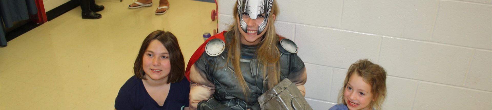 Thor at Family Night!