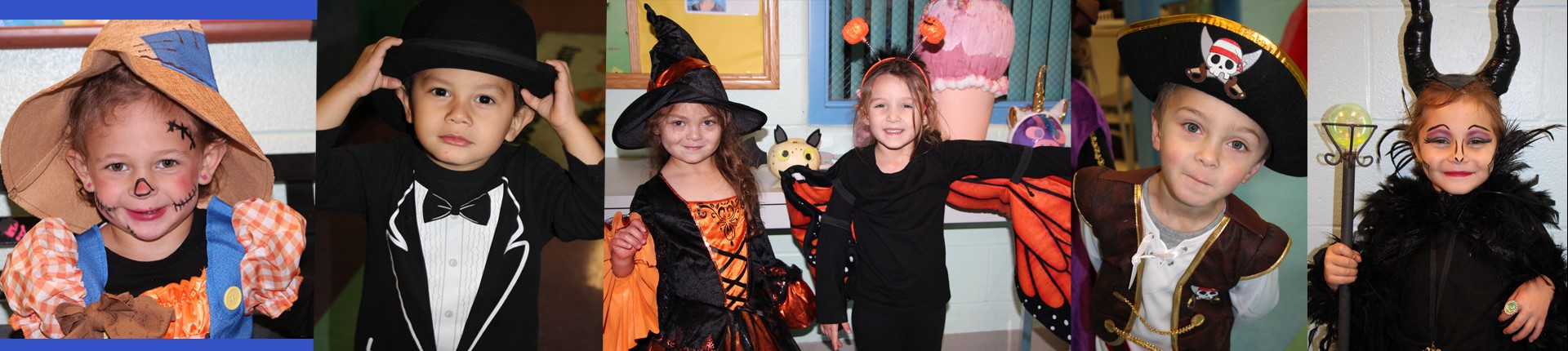 Preschoolers dress up for Halloween