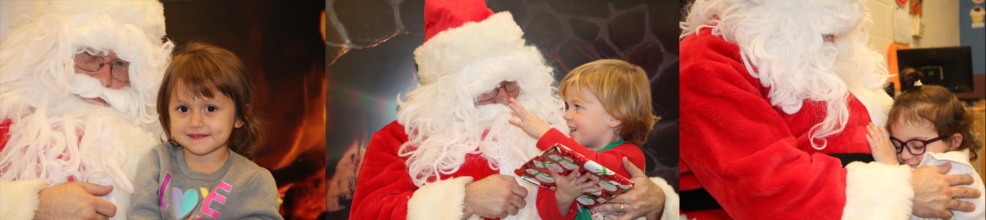 Santa comes to Preschool Head Start for a special visit.