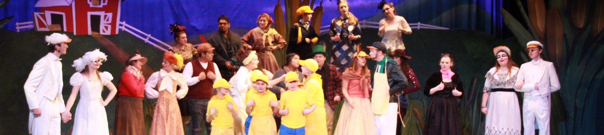 A scene from the recent play presented by Bourbon County Schools, Honk!