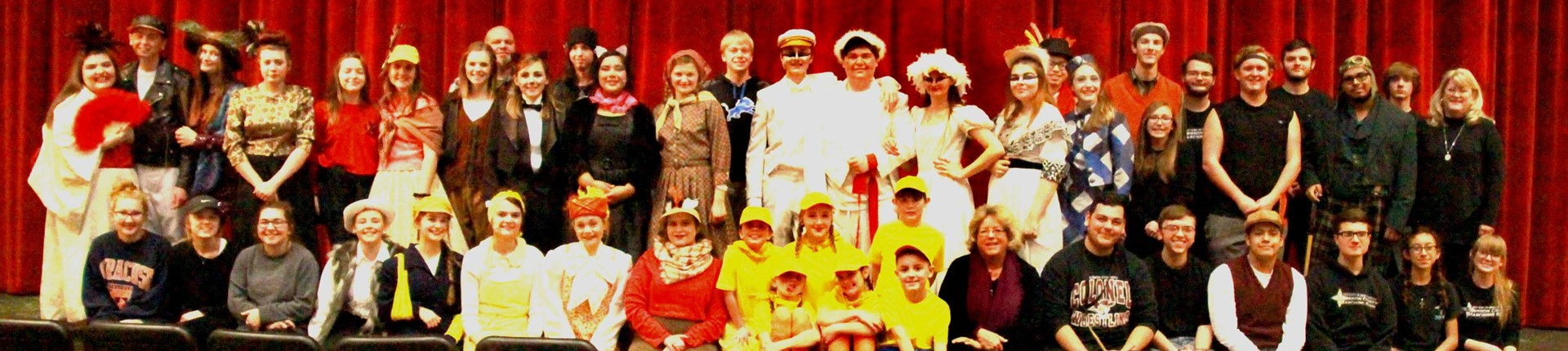 Cast members and crew to the Bourbon County High Schools performance of Honk