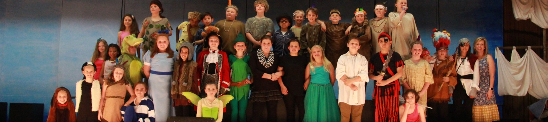 Cast and Crew of North Middletown's performance of Peter Pan